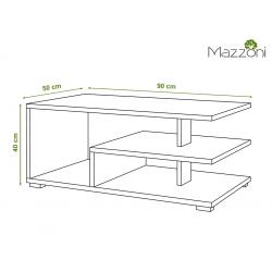 LINK beton / bílá, konferenční stolek