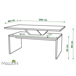 SISI bílý + černý, konferenční stolek, černobílý, obdélníkový