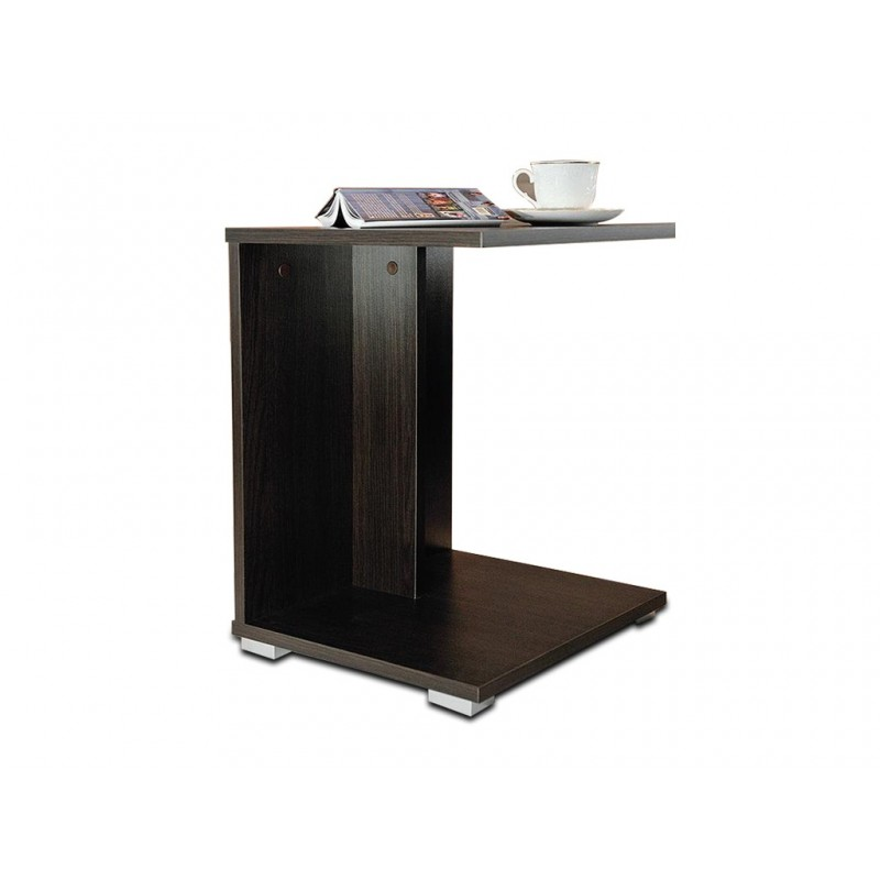 HUGO WENGE konferenční stůl, stolek s poličkou