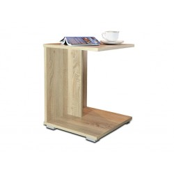 HUGO DUB SONOMA konferenční stůl, stolek s poličkou