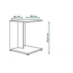 HUGO BÍLÝ konferenční stůl, stolek s poličkou